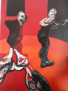 Francis Bacon. Tres estudios para una crucifixión. Detalle. Tríptico 1962. Guggengehim Museum N.Y.