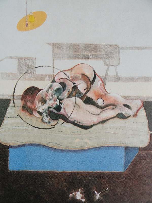 Francis Bacon. Tres figuras en la cama. Tríptico 1972. Panel central Colección particular.