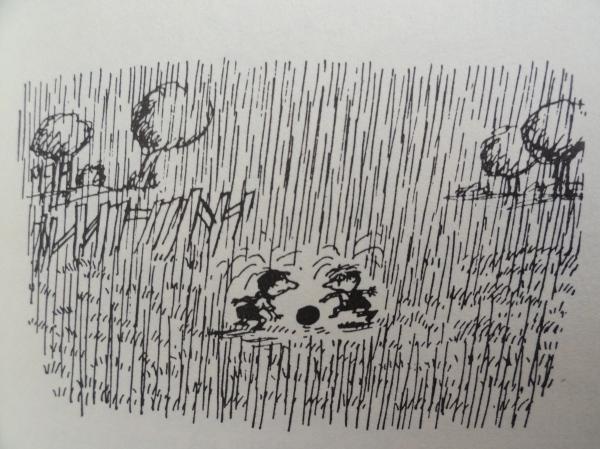 Fútbol bajo el aguacero. Goscinny y Sempé. Los recreos del pequeño Nicolás. Ed. Alfaguara 1979