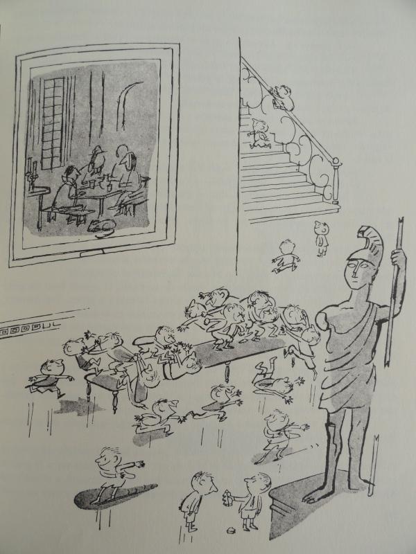 Los alumnos en el museo. Goscinny y Sempé. Los recreos del pequeño Nicolás. Ed. Alfaguara 1979
