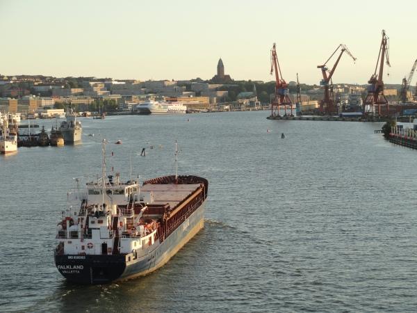 Tras pasar el puente levadizo sobre la ría de Gotemburgo. Foto R.Puig