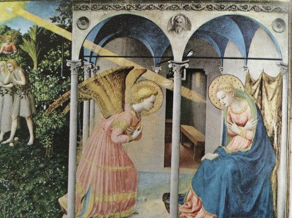 Anunciación. Fra Angelico. Museo del Prado.