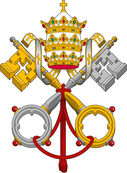 Emblema del Papado- Wikipedia commons