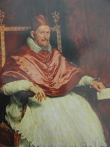 Inocencio X. por Velazquez. Galería Doria Pamphili. Roma