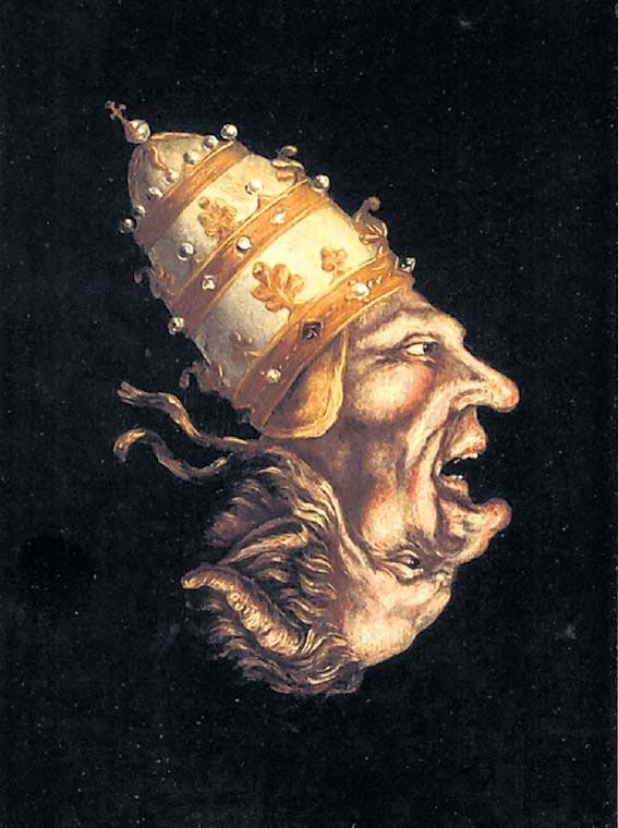 Version del papa como anticristo en el siglo XVI