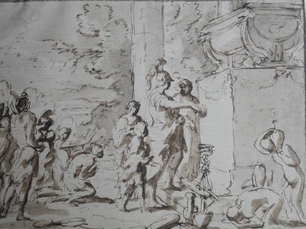 Nicolas Poussin. Alejandro ante la tumba de Aquiles.