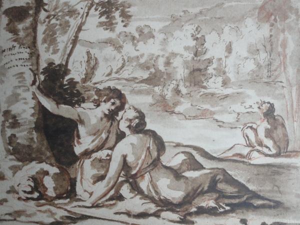 Nicolas Poussin. Medoro y Angelica. Museos nacionales suecos.