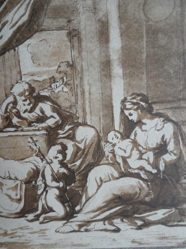 Nicolas Poussin. Sagrada Familia con San Juanito.