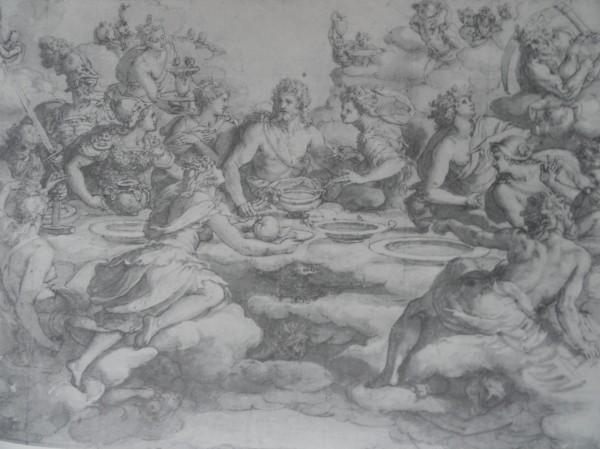 Nicolas Poussin. Venus ofrece a Jupiter la manzana del jardin de las Hesperides