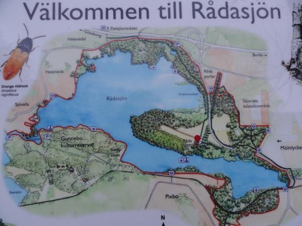 Råda Säteri.Plano de la zona protegida por Natura 2000