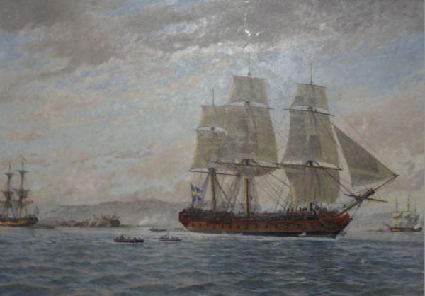 Sjöfarts Museet. Jacob Hägg. Barcos de la nacion. Detalle.