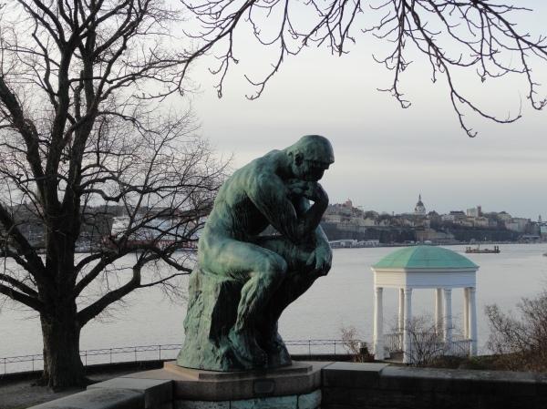Auguste Rodin. El pensador. Waldemarsudde. Foto  R.Puig.