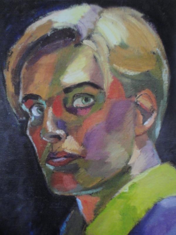 Autorretrato. 1986. Mauritz Karström målningar