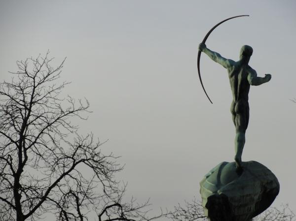 Carl Milles. Arquero. Waldemarsudde. Foto R.Puig.