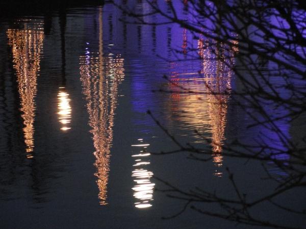 Gotemburgo. Reflejos navideños. Foto R.Puig.