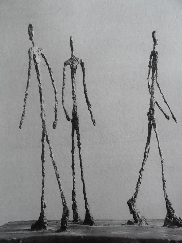 Hombres que andan. Giacometti. Fundacion Alberto Giacometti.
