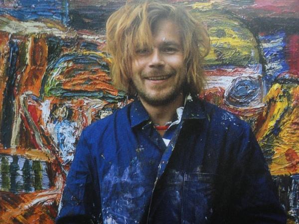 Mauritz en su taller. 1998. Foto Manfred Soeder