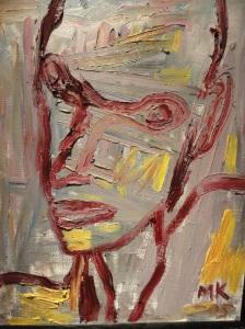 Tänkare.Mauritz Karström. Galeria Fahlnaes.Foto R.Puig