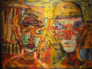 Två bovar.Mauritz Karström. Galeria Fahlnaes.Foto R.Puig