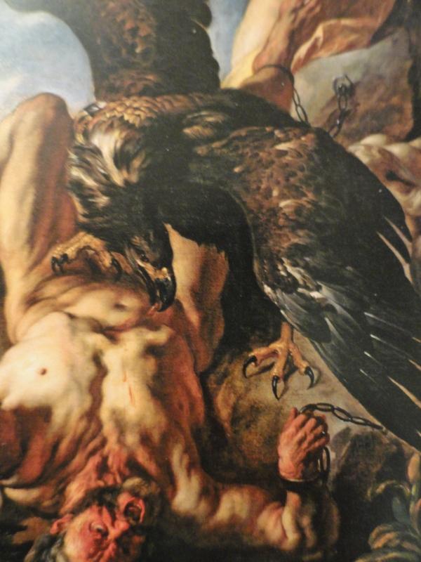 El aguila y Prometeo. Jacob Jordaens.Detalle.Museo Wallraf Richartz. Colonia.