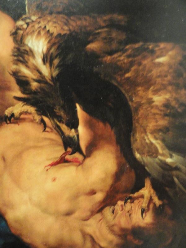 El aguila y Prometeo. Rubens y Frans Snyders. Detalle. Museo de Filadelfia.