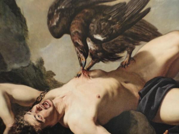El aguila y Prometeo. Theodoor Rombouts. Detalle.Museos Reales de Bellas Artes. Bruselas.