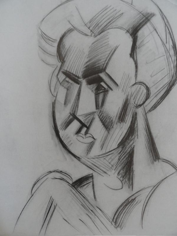 Picasso. Cabeza de mujer. 1909
