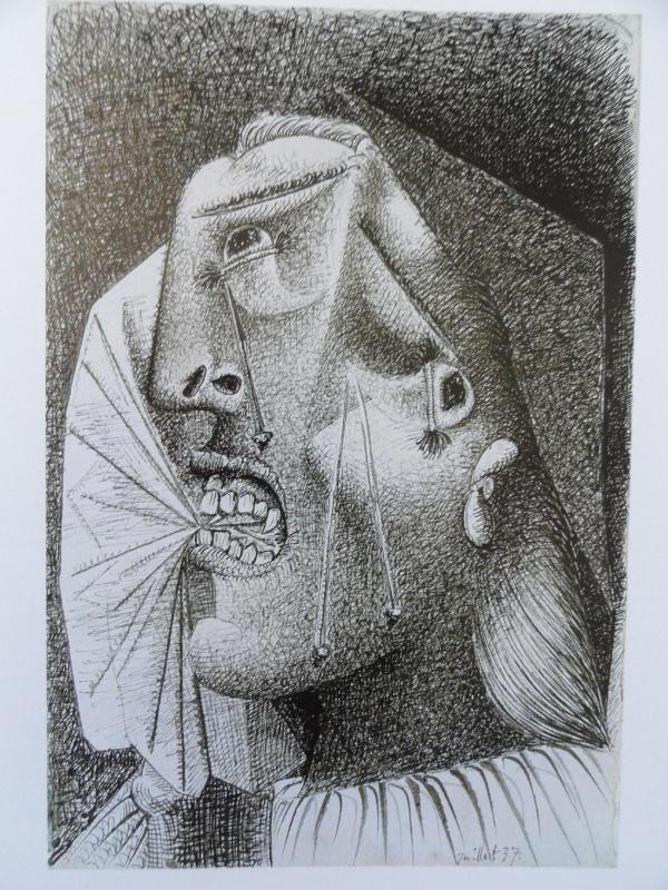 Picasso. Cabeza llorando con pañuelo. 1937.