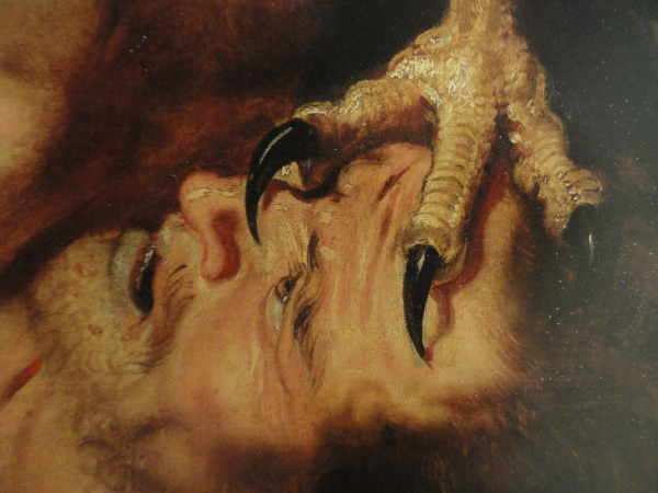 Prometeo bajo las garras del águila. Rubens y Frans Snyders. Detalle. Museo de Filadelfia.