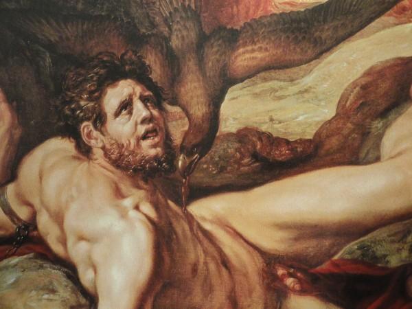 Ticio y el aguila. Hendrick Golzius. Detalle. Museo Frans Hals. Haarlem.