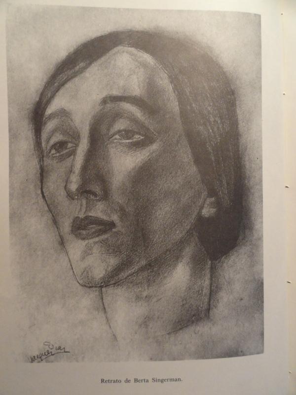 Vazquez Díaz. Retrato de la actriz Berta Singerman