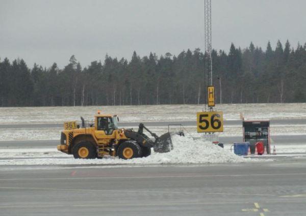 Asi estaba el aeropuerto de Gotemburgo el 14 de enero del 2014.Foto R.Puig