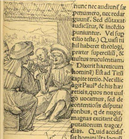 Inquisidores segun Holbein. Margen del Elogio de la locura de Erasmo