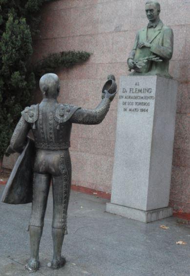 Monumento de los toreros al Dr.Fleming. Madrid. Foto R.Puig