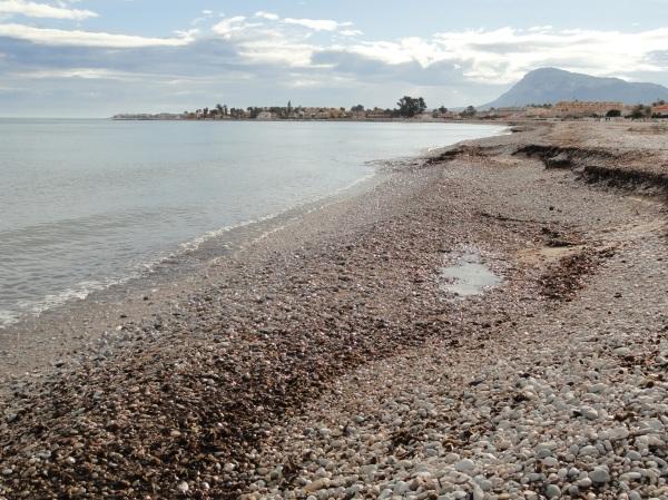 Playa de la Almadrava.Els Poblets. Febrero 2014.Foto R.Puig