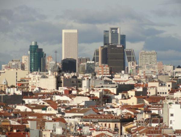 Popurri madrileño. Desde la terraza del Circulo de Bellas Artes.Enero 2014.Foto R.Puig