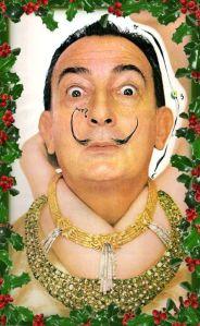 Postal navideña de Dali para Hoestrch Iberica