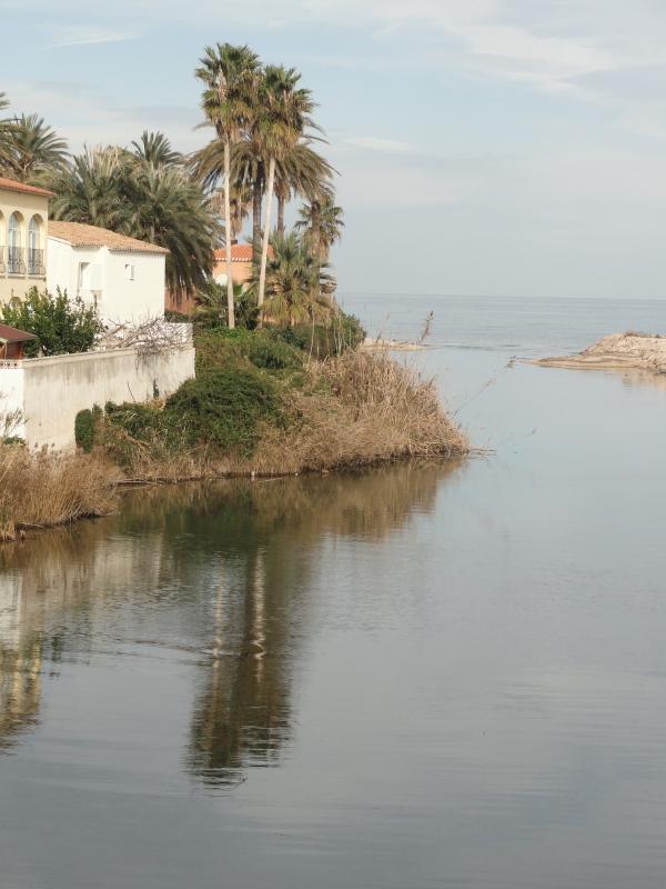El río Girona enfilando hacia el mar. Foto R.Puig