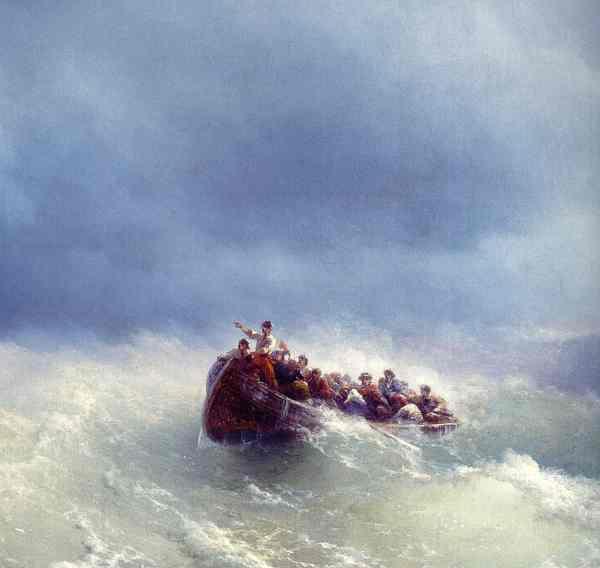 Aïvazovski. En la tempestad. 1872.Galeria Nacional de Armenia.