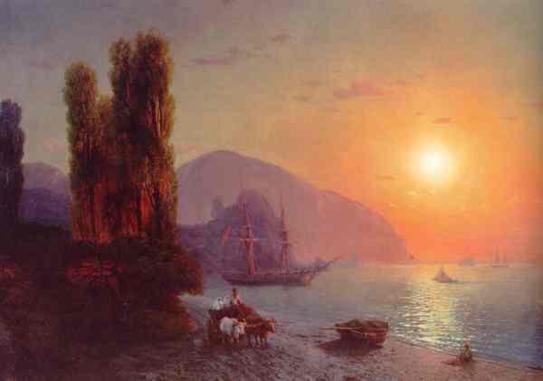 Aïvazovski. Vista de Crimea. 1865.Galeria Nacional de Armenia.
