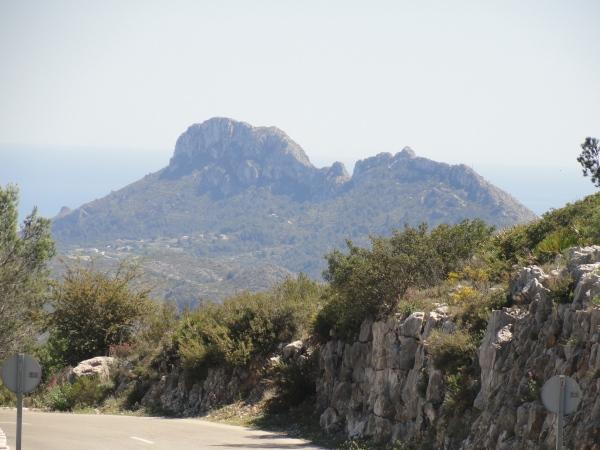 El Segaria desde la carretera entre La Vall d'Ebo y Pego. Foto R.Puig