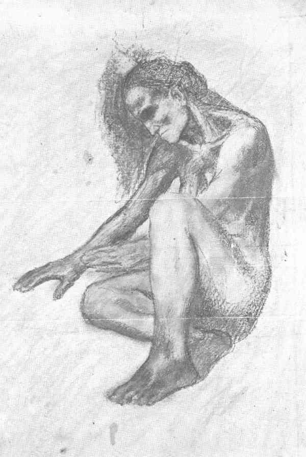 Picasso. Boceto de figura para la decoracion de una chimenea. Barcelona 1903. Museo Picasso de Barcelona.