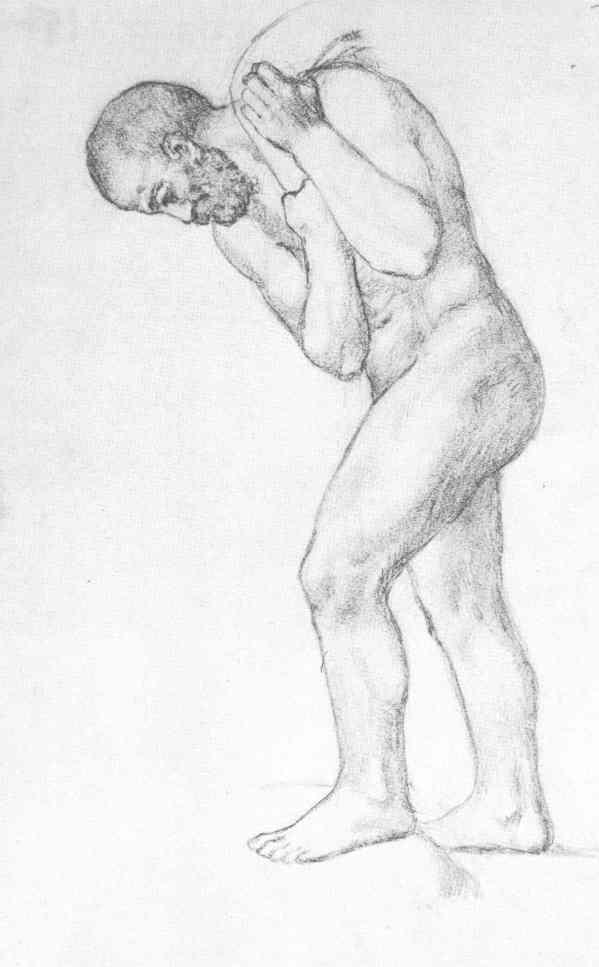Picasso. Hombre con un saco. Barcelona o Paris 1902. Museo Picasso de Barcelona.