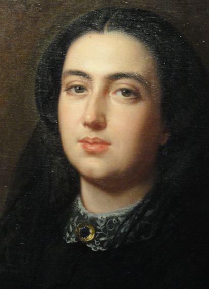 Bernarda Albacete. Luis de Madrazo.1861. Museo Romántico. Madrid. Foto R.Puig