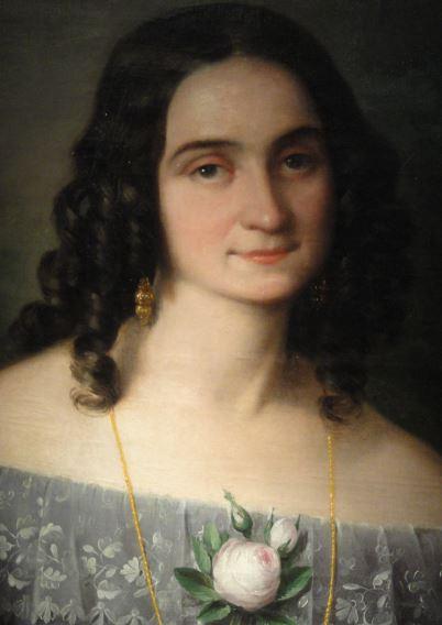 Filomena Sánchez Salvador. Antonio Mª Esquivel. 1843. Museo  Romántico.  Madrid.  Foto R.Puig