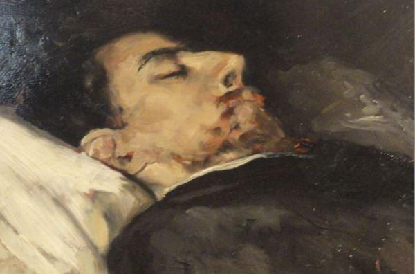 Gustavo Adolfo Bécquer en su lecho de muerte. Vicente Palmaroli. 1870 a 1871. Museo Romántico. Madrid. Foto R.Puig