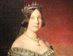 Isabel II por Federico de Madrazo. Detalle.Museo Romántico.  Madrid.  Foto R.Puig