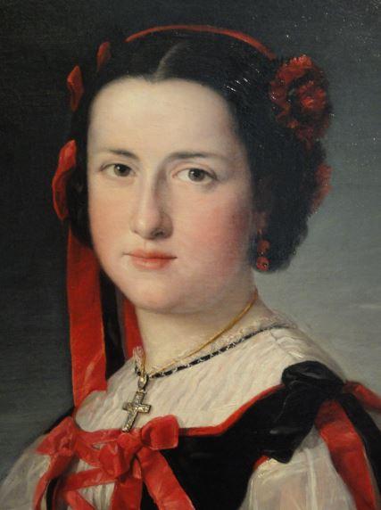 La infanta Luisa Fernanda de Borbón. Federico de Madrazo. 1847. Museo  Romántico.  Madrid.  Foto R.Puig