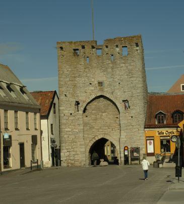 Puerta del Este en las murallas de Visby. Foto R.Puig