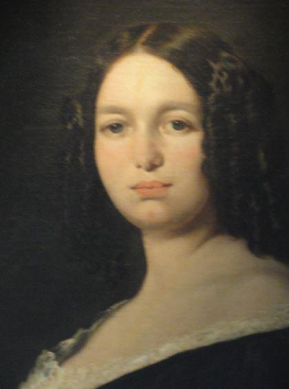 Retrato de dama. Atribuido a Carlos Luis de Ribera. 1850. Detalle. Museo  Romántico.  Madrid.  Foto R.Puig
